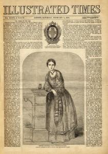 Entrevista/ portada del Illustrated Times el 2 de febrero de 1856.