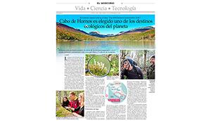Reserva de la Biosfera Cabo de Hornos es elegido como uno de los 100 destinos sustentables del 2016