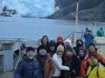 Glaciar Italia grupo prensa internacional