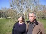 El matrimonio de investigadores se encuentra de visita en la Región de Magallanes, realizando charlas, talleres y cursos.