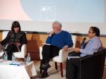 Natalie Vidal, sub directora del INJUV, el sociólogo Manuel Rodríguez y el coordinador académico del Magíster en Ciencias Sociales de la UMAG, Walter Molina.