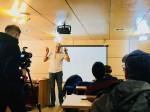 El antropólogo Michael Taussig en el aula tecnológica UMAG