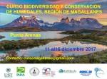 AFICHE CURSO BIODEVERSIDAD Y CONSERVACION DE HUMEDALES REGION DE MAGALLANES DICIEMBRE 2017