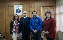 Nuevo jefe regional del Instituto Nacional de Derechos Humanos se reunió con el rector de la UMAG