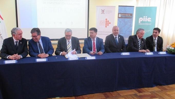 Seis universidades del Estado y Mineduc firman convenio que crea Instituto de Investigación Educativa