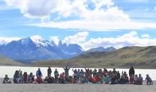 Niños del Campamento en Torres del Paine