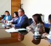 Reunión comisión estatutos y senador Bianchi