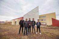 Equipo realizador UMAG TV de izq a derecha Mauricio Mayorga, Jorge Grez, Alan Salazar, Diego Santana y Vicente Oñate