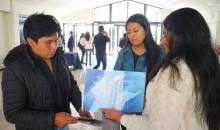 Estudiantes peruanos durante su pasantía por la Universidad