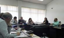 Directivos superiores en reunión informativa del mes de enero de 2019.