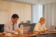 Christian Formoso en comité directivo - foto U. de Chile